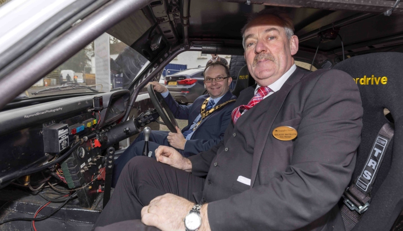 McGarrity heads to the Dunadry Hotel for the UAC Easter Stages Rally