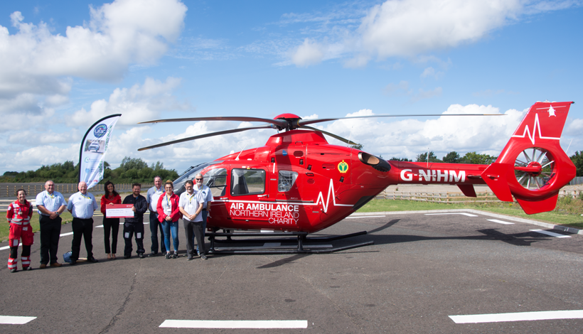 UAC Easter Stages Rally donates proceeds from Programme sales to Air Ambulance Charity
